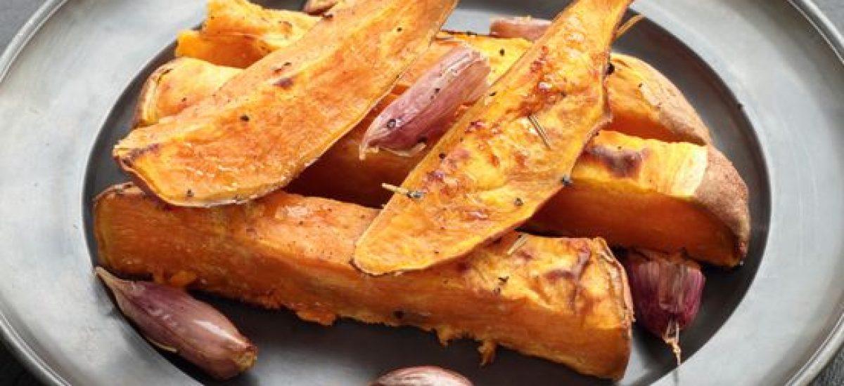 Sladké zemiakové hranolky