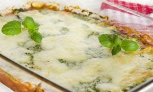 Cuketové špenátové lasagne