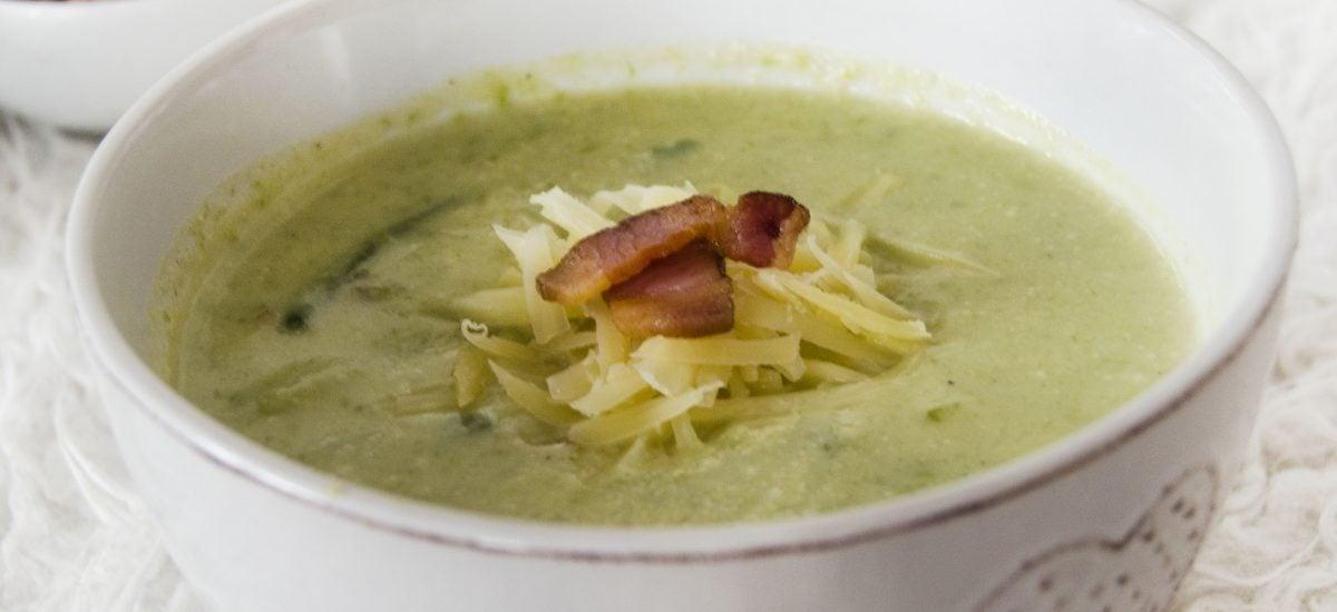 Krémová polievka zo zelenej fazuľky