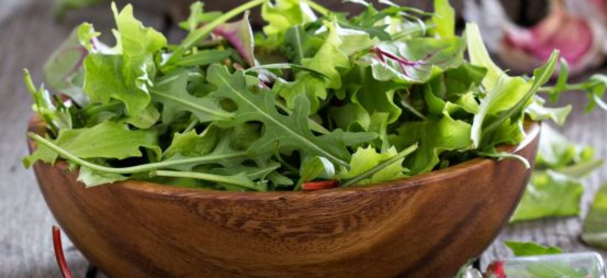 Zelené listy šalátu