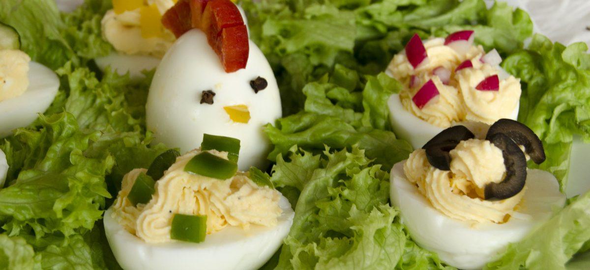 Vajíčka plnené mozarellovým krémom