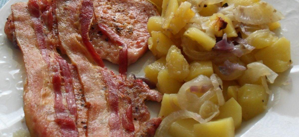 Bravčové so zemiakmi a cibuľou