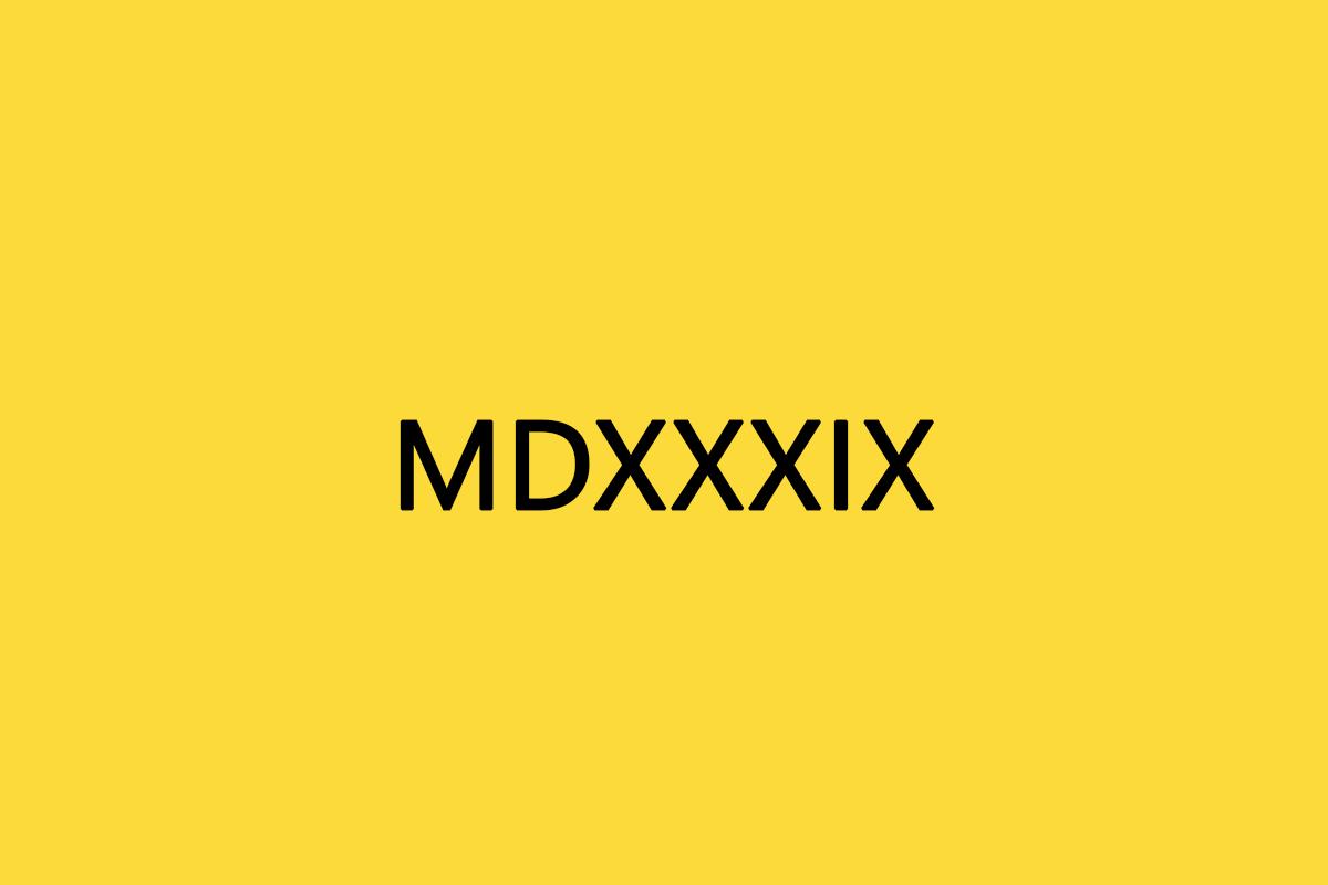 MDXXXIX
