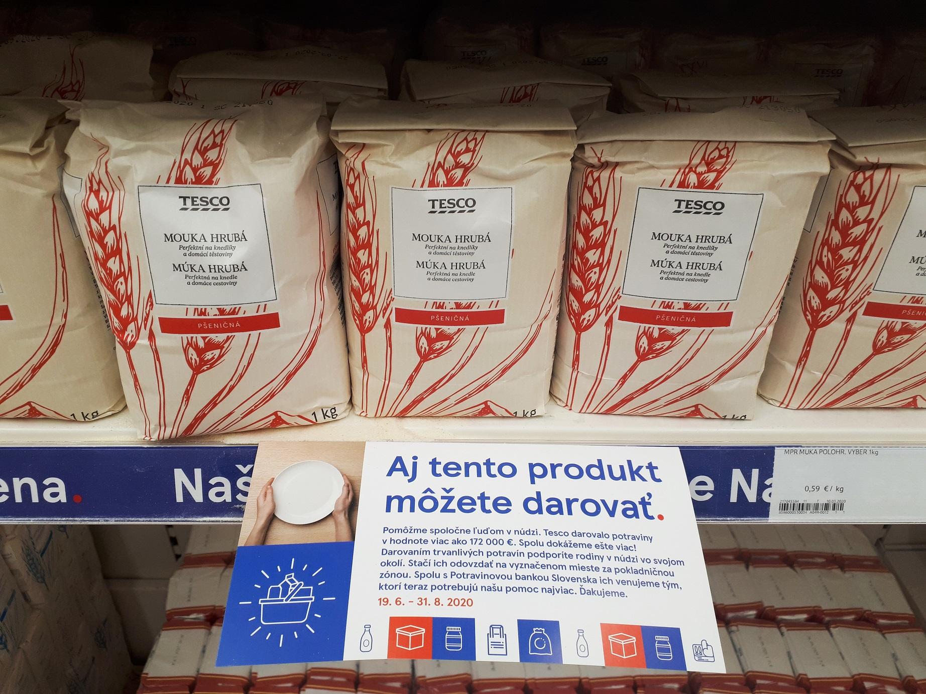 Tesco - letná potravinová zbierka