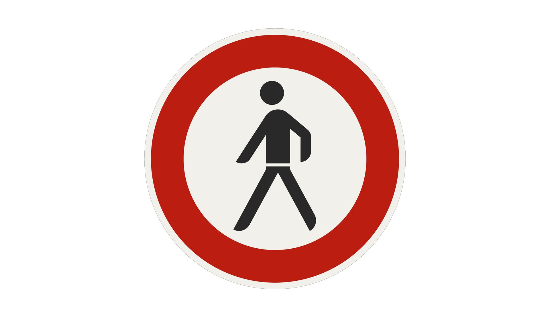 zákaz pešej premávky