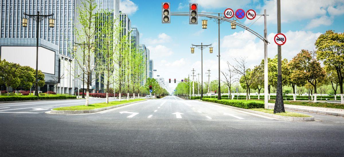 križovatka, značky, semafór