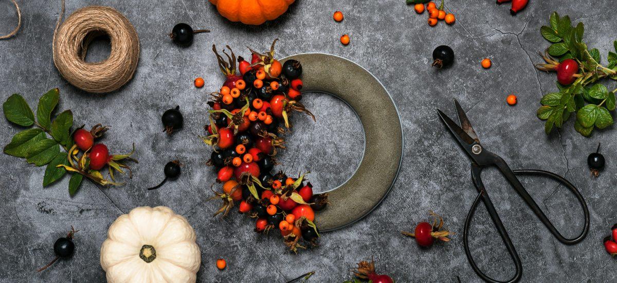 Výroba jesenného venca
