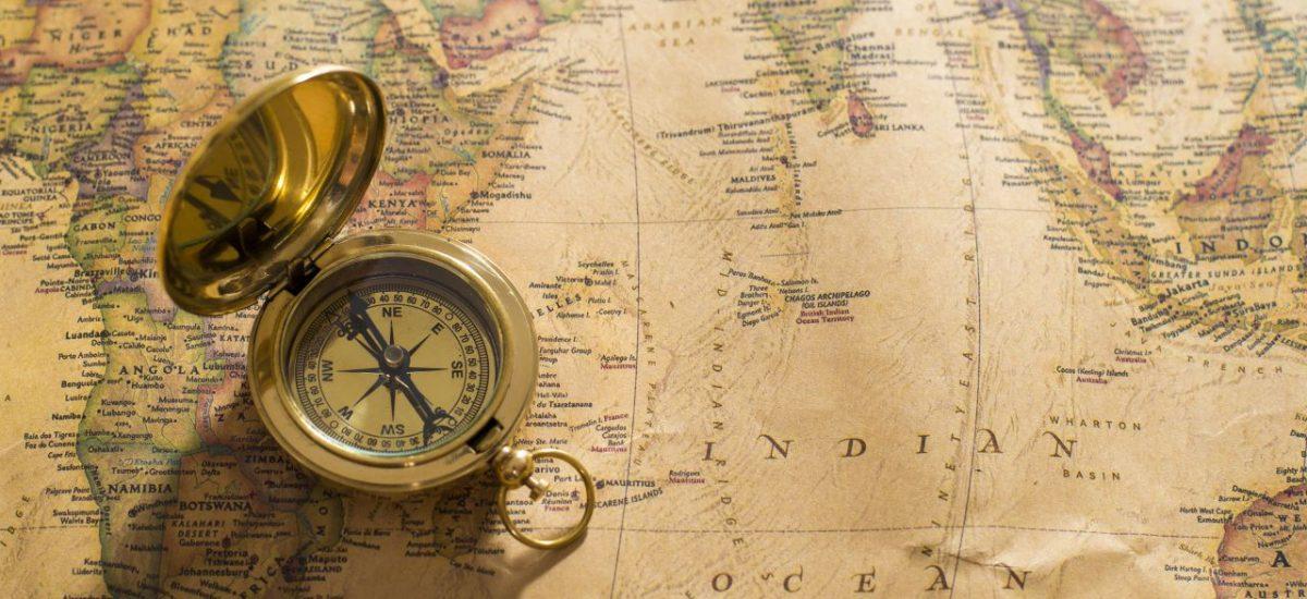 stará mapa, kompas