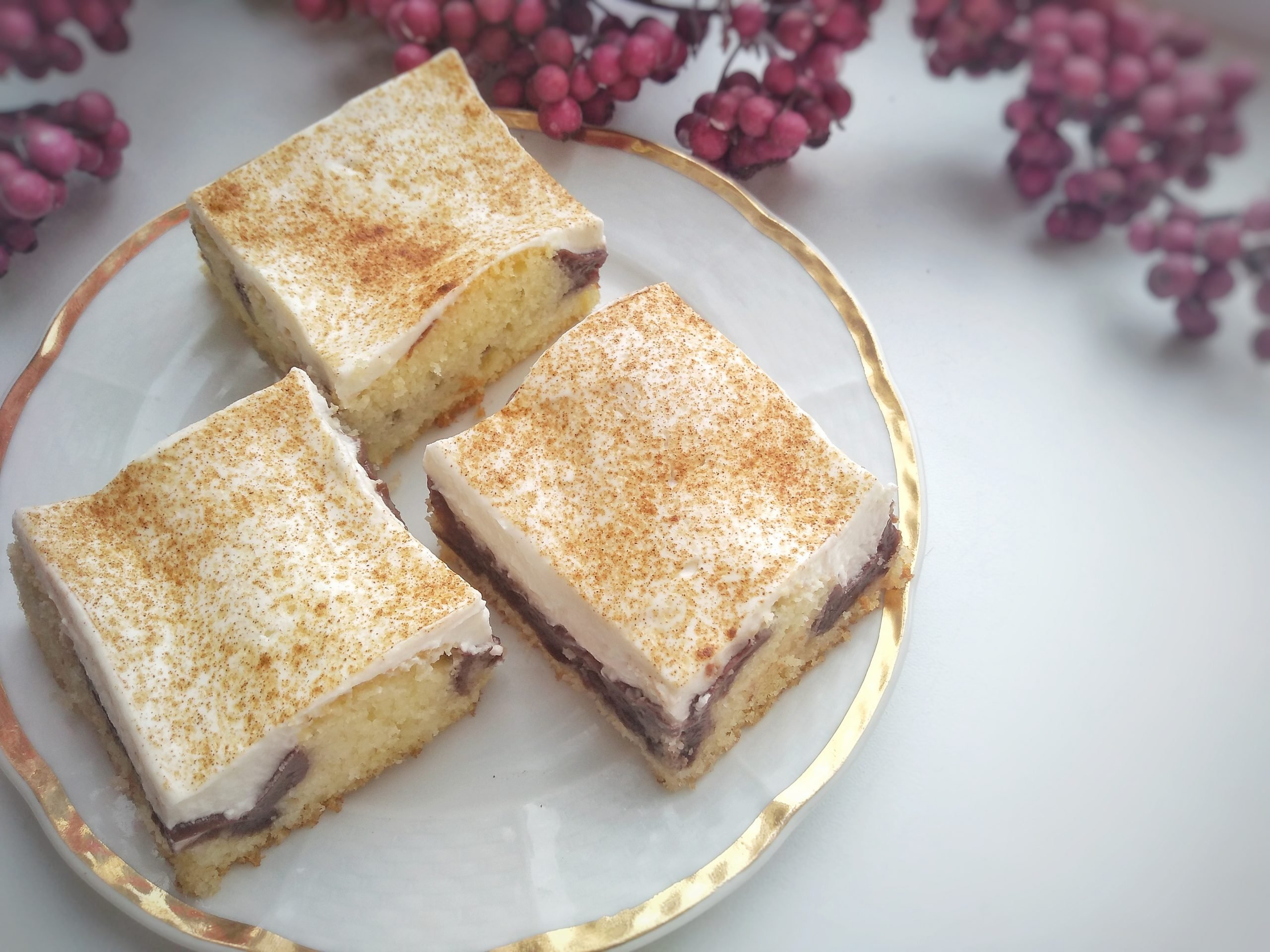 Smotanovo-pudingový koláč, Fotorecept