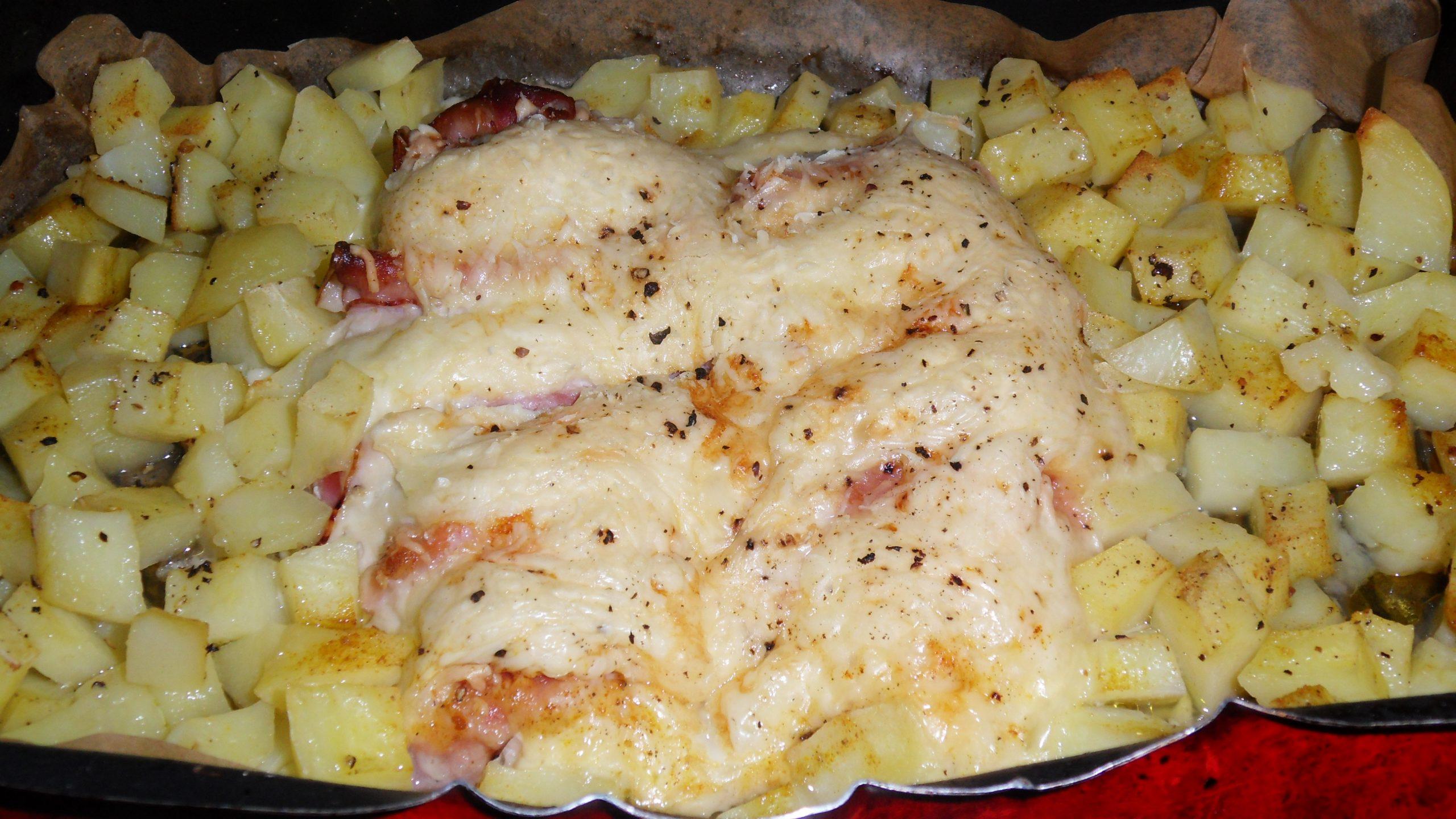 Kuracie prsia so syrom a slaninkou, Fotorecept