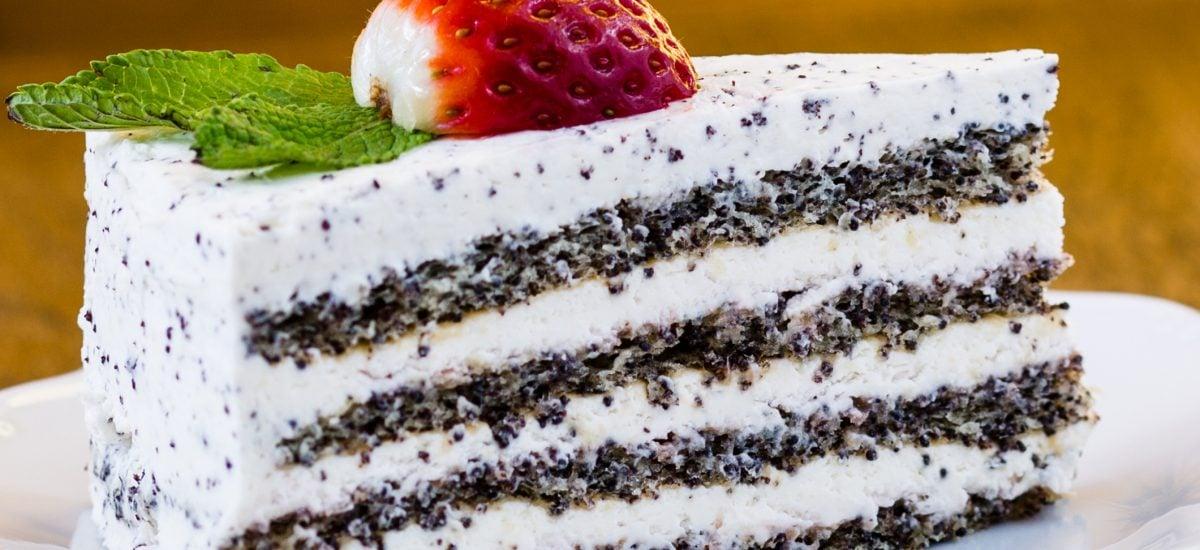 Jahodovo-makový koláč, Zákusok