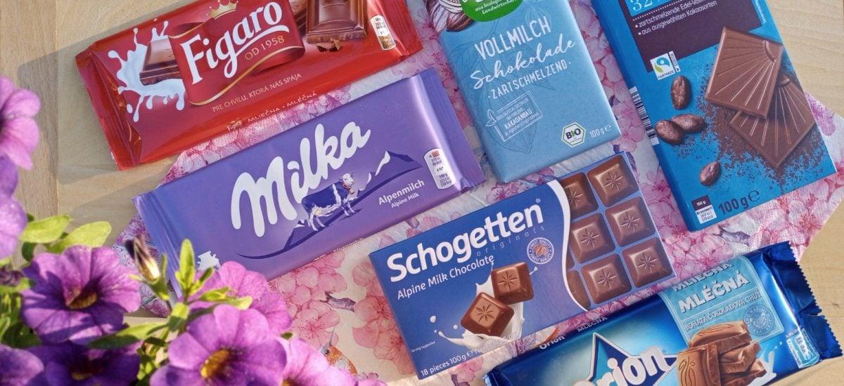 mliečne čokolády test