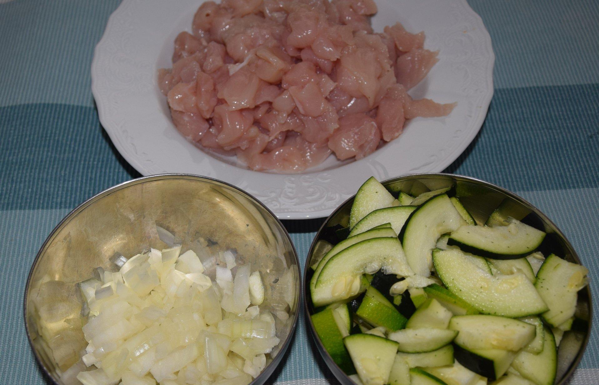 Cuketa s kuracím mäsom, Fotorecept, Varenie