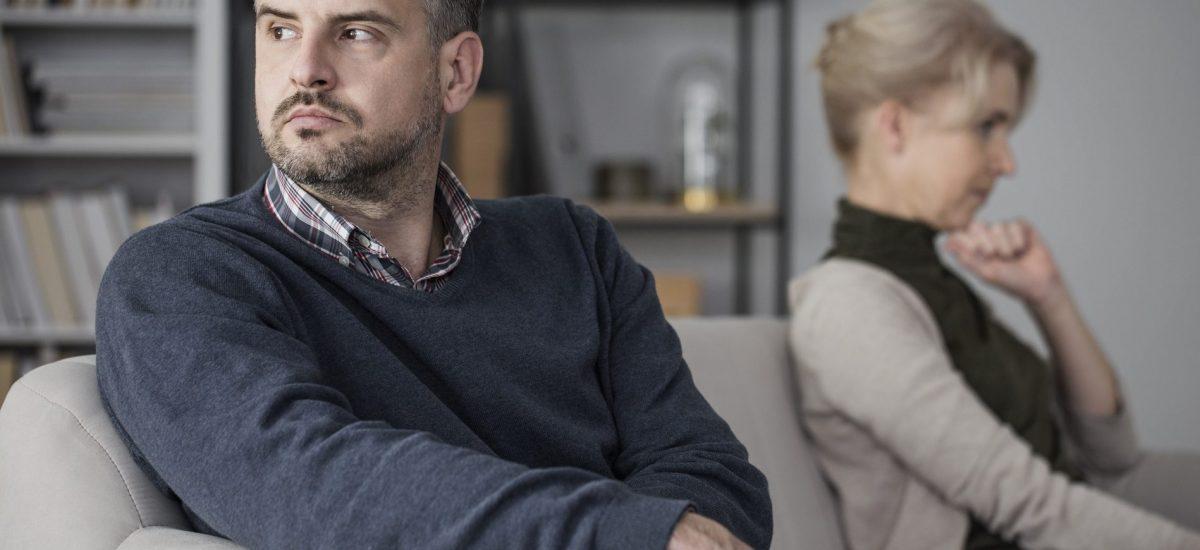 Muž sa pohádal so ženou