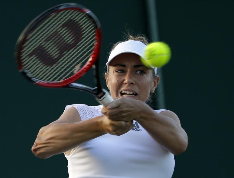 Kristína Kučová na Wimbledone v roku 2017