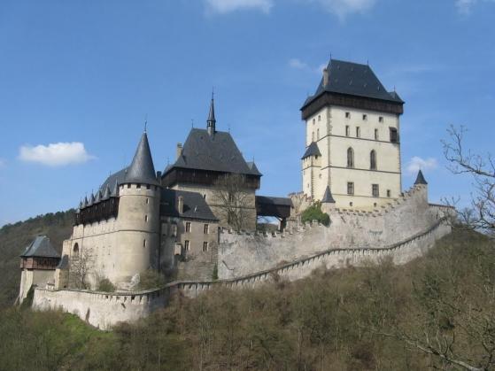 Známy český hrad Karlštejn
